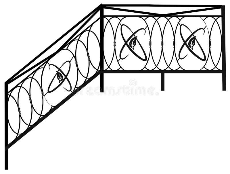 Barrières, balustrades et grilles Articles et produits forgés pour la conception à la maison d'intérieur et de paysage illustration stock