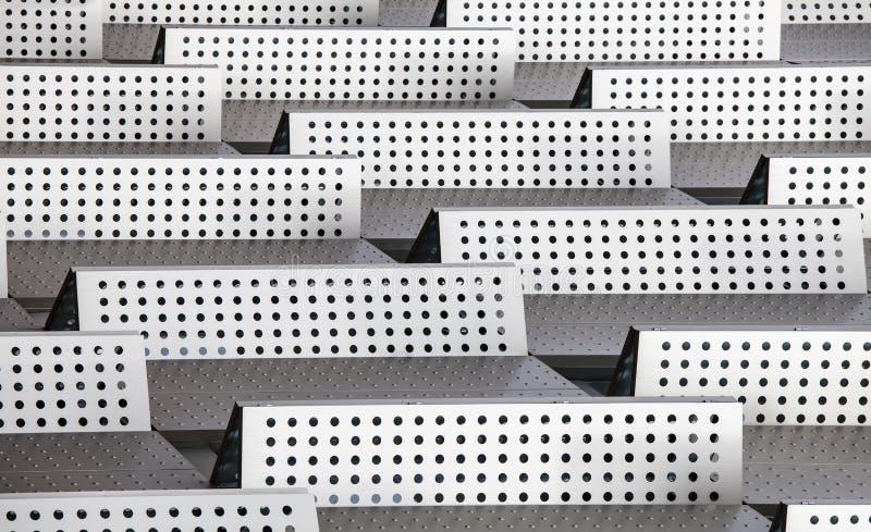 Barrières van van achtergrond Chrome 3d abstracte moderne patroonpunten vector illustratie