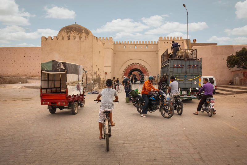 barri barcelona 2008 областей gottic может улица Испании места овцы в Bab Khemis marrakesh Марокко стоковые изображения
