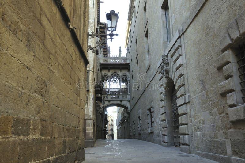 Barri gótico, Barcelona imagen de archivo libre de regalías