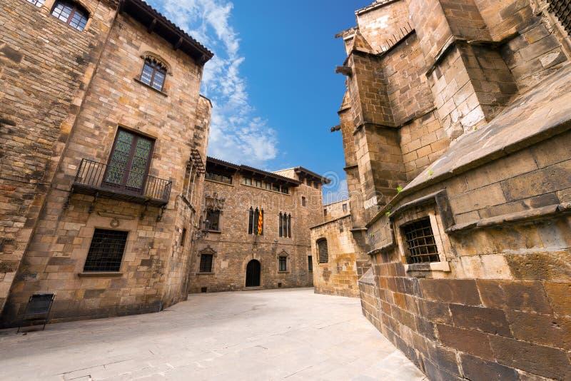Barri Gothic Quarter - Barcelona España fotos de archivo