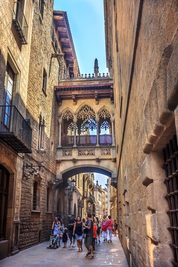 Barri Gotic zdjęcie stock