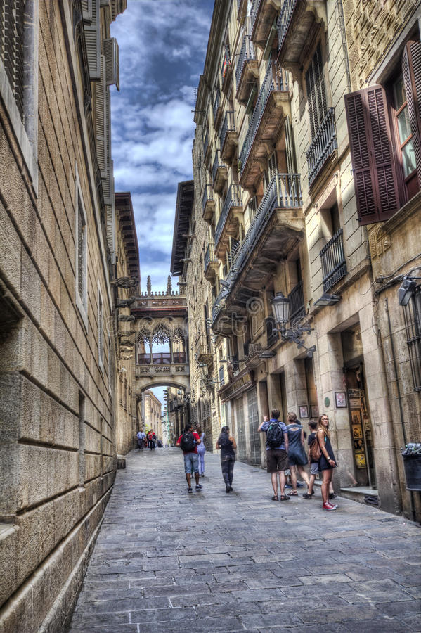 Barri Gotic, Barcelona foto de archivo