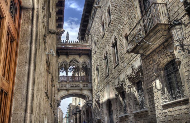 Barri Gotic, Barcelona stockfotografie