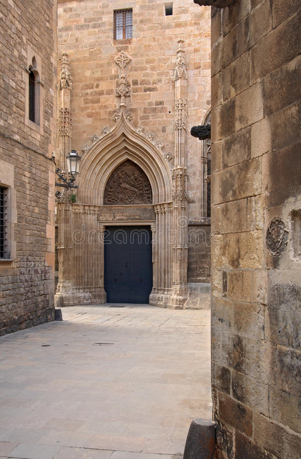 Barri Gotic (cuarto gótico). Barcelona imagen de archivo