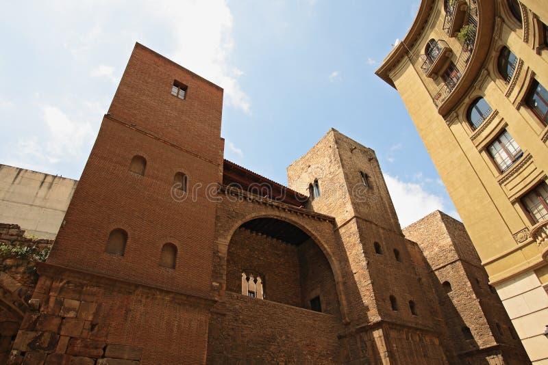 Barri Gotic (cuarto gótico). Barcelona fotos de archivo libres de regalías