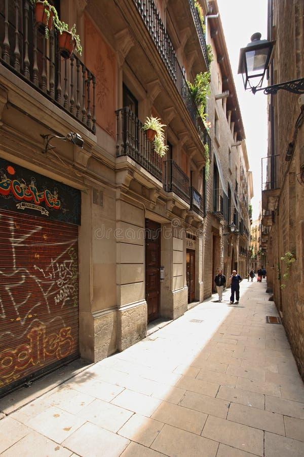 Barri Gotic en Barcelona fotografía de archivo libre de regalías