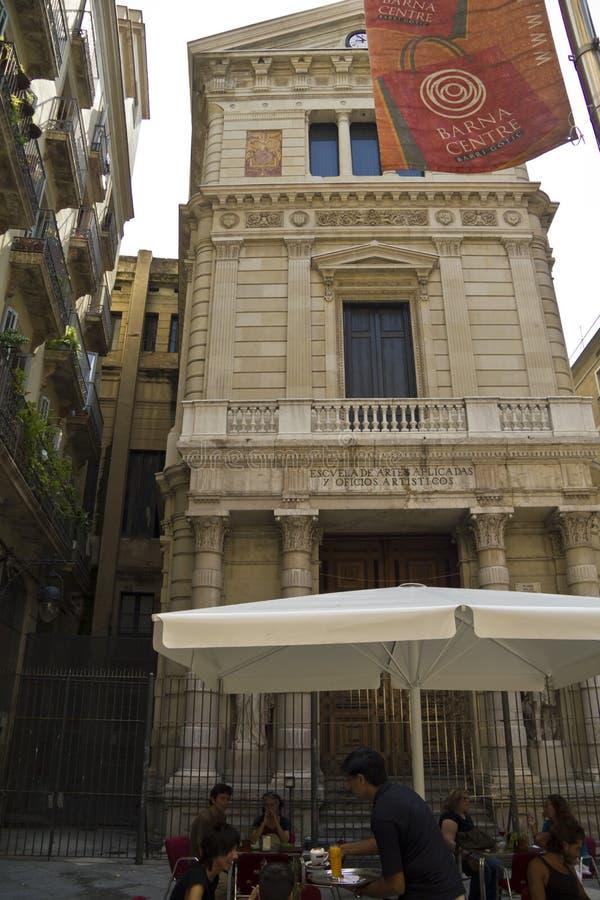 Barri Gotic en el centro de Barcelona imágenes de archivo libres de regalías