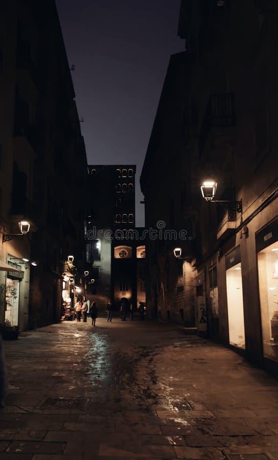 Barri Gotic Gothic Quarter Barcelona fotos de archivo