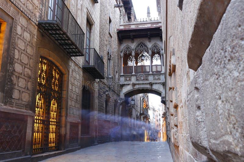 Barri Gotic-Viertel von Barcelona, Spanien stockfoto