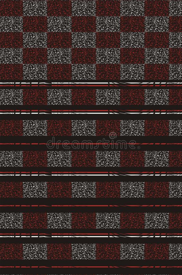 Barri la progettazione su backgroung nero con due scatole strutturate punteggiate s del ` di colore royalty illustrazione gratis