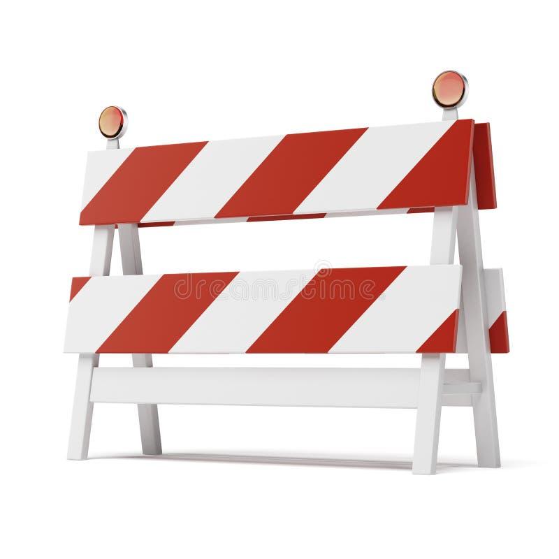 Barricada aislada en el fondo blanco libre illustration