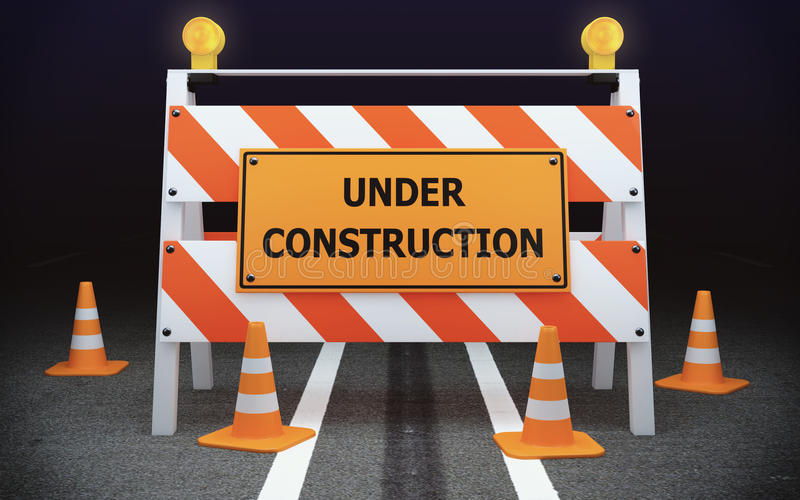 Barricade en construction de circulation illustration de vecteur