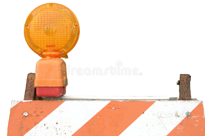 Barricade And Flasher Stock Photography