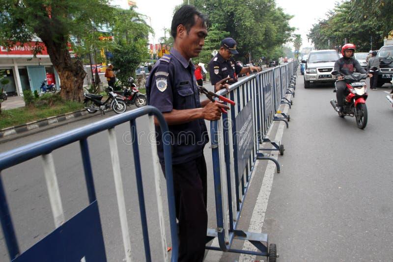 barricades imagem de stock