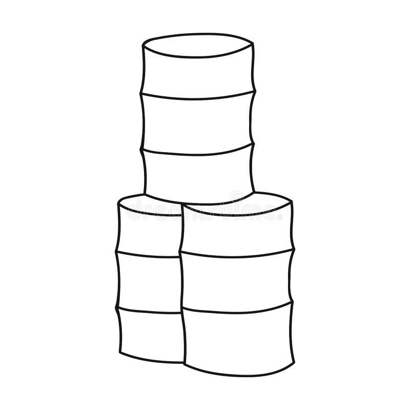 Barricadez de l'icône de barils dans le style d'ensemble d'isolement sur le fond blanc Illustration de vecteur d'actions de symbo illustration de vecteur