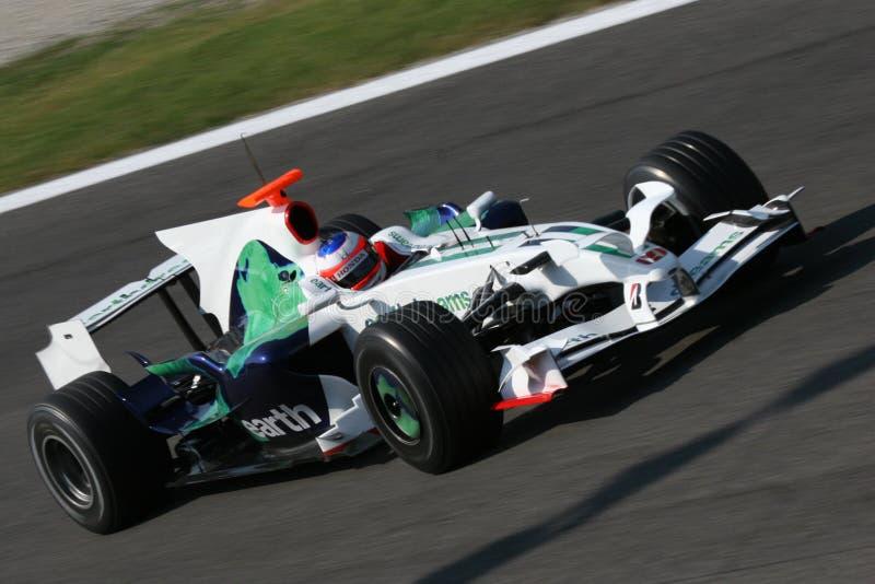 Barrichello auf f1 lizenzfreies stockfoto