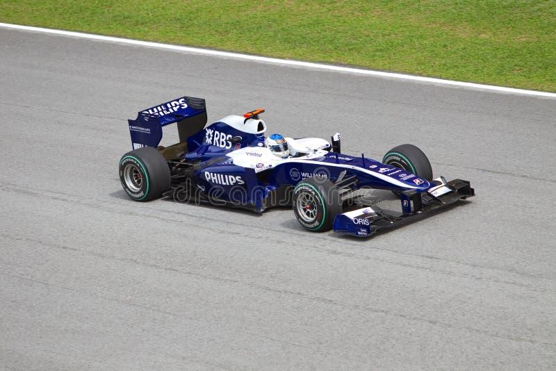 Barrichello at the Malaysian F1 stock image