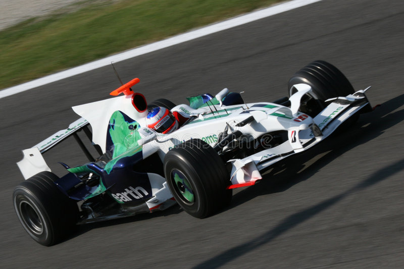Barrichello no f1 foto de stock royalty free
