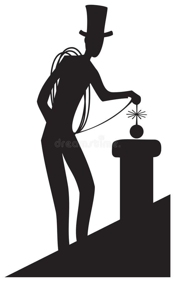 Barrido de chimenea stock de ilustración