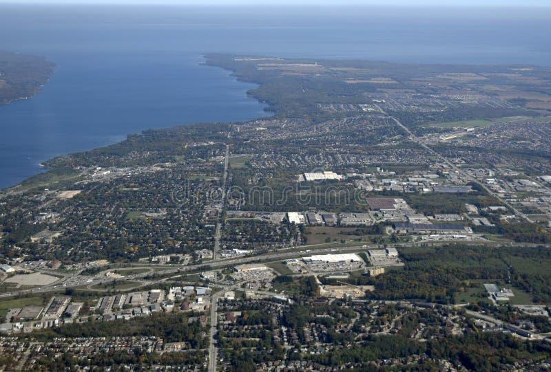 Barrie, воздушное стоковая фотография