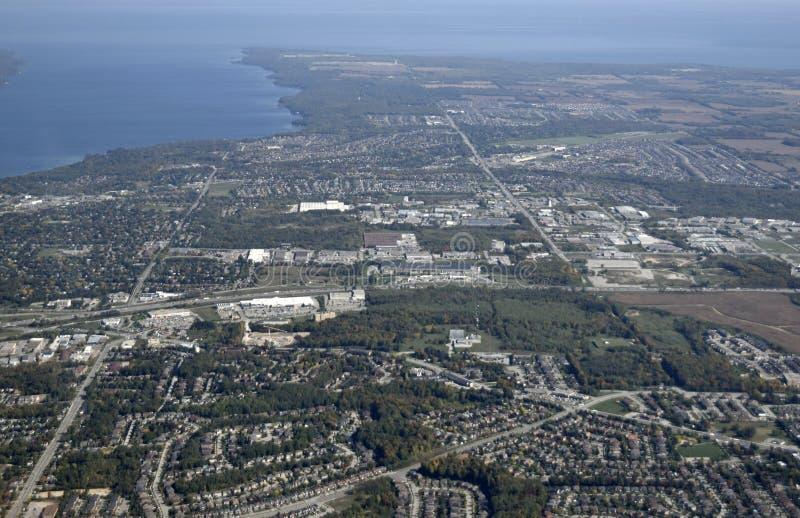Barrie, aéreo fotografía de archivo libre de regalías