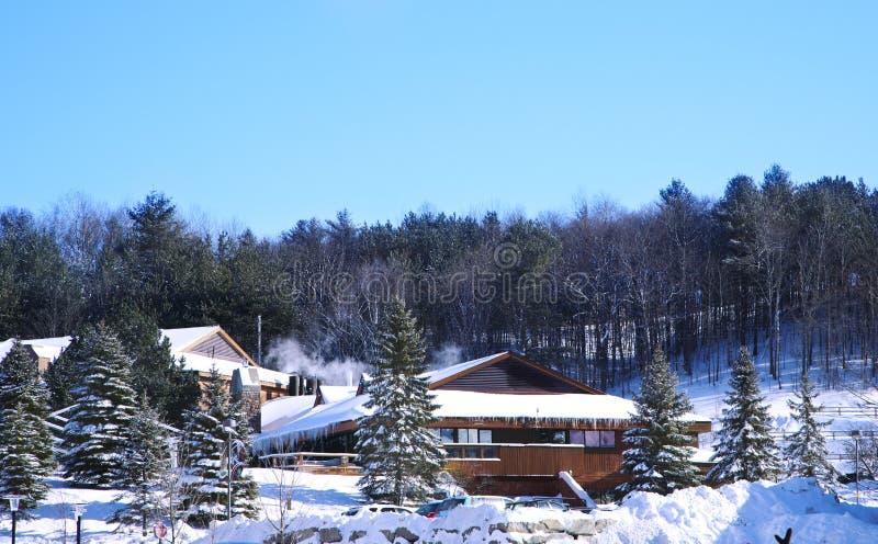 Barrie, Canada - January 8, 2017: Horseshoe ski resort in Barrie. Ontario, Canada. Popular skiing resort stock images