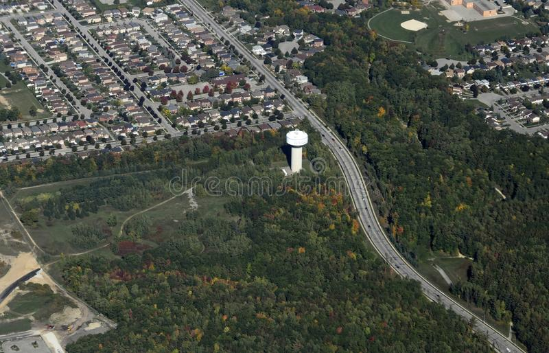 Barrie Ontario, aerial. Aerial view of the Letitia Heights area in Barrie, Ontario Canada royalty free stock photography