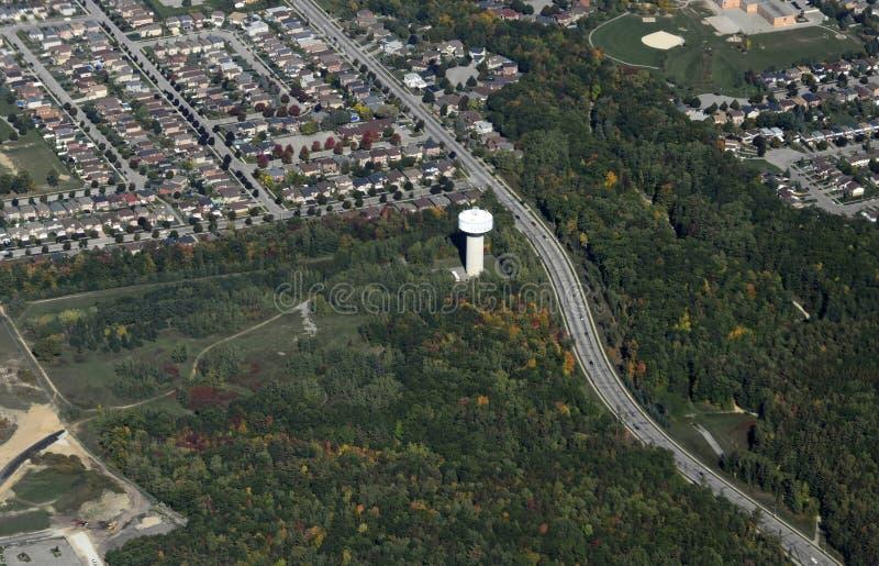 Barrie Ontario antenn royaltyfri fotografi