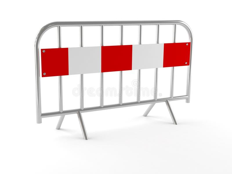 Barrier concept. On white background royalty free illustration