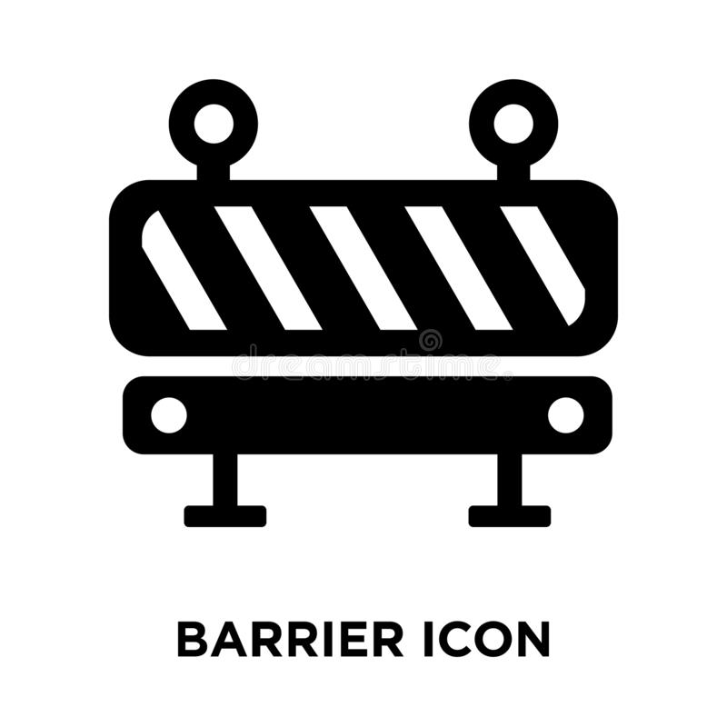 Barrier icon vector isolated on white background, logo concept o. F Barrier sign on transparent background, filled black symbol stock illustration