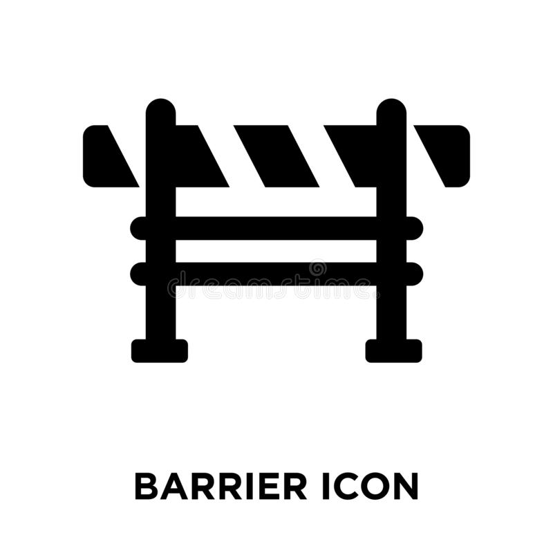 Barrier icon vector isolated on white background, logo concept o. F Barrier sign on transparent background, filled black symbol vector illustration
