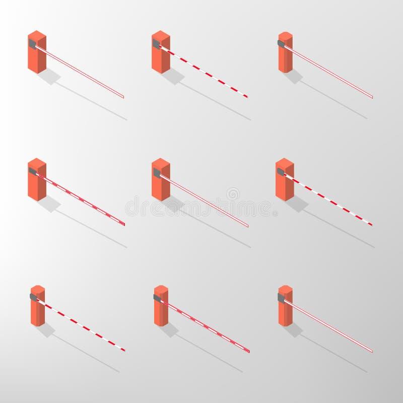 Barrier isometric, vector illustration. royalty free illustration