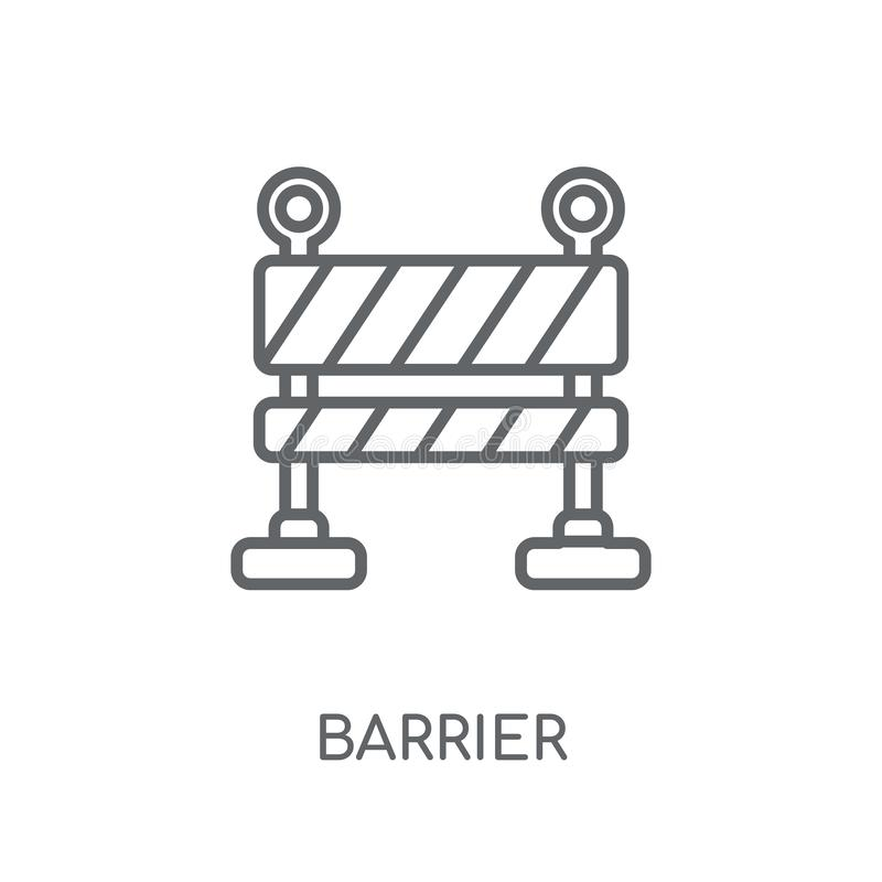 Barrier linear icon. Modern outline Barrier logo concept on whit vector illustration