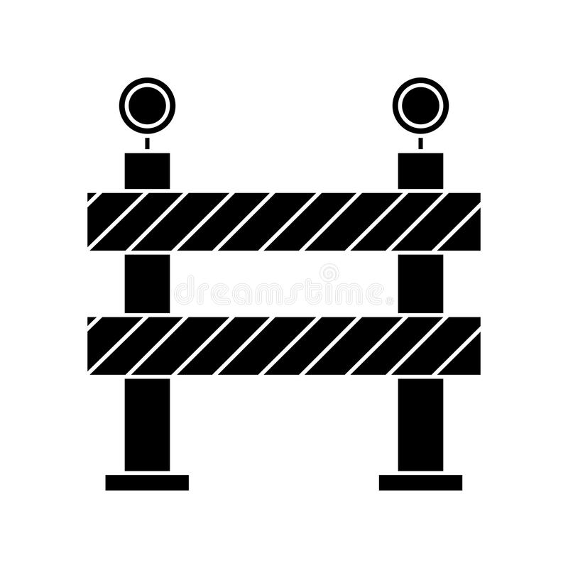 Barrier restricted street stripe design pictogram. Vector illustration eps 10 stock illustration