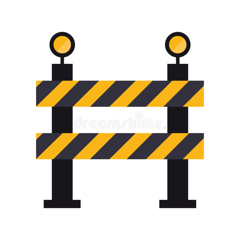 Barrier restricted street stripe design. Vector illustration eps 10 stock illustration