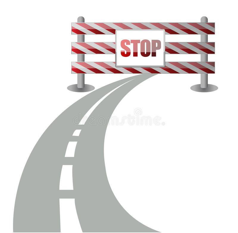 Download Barrier On The Road Illustration Royalty Free Stock Images - Image: 27324179