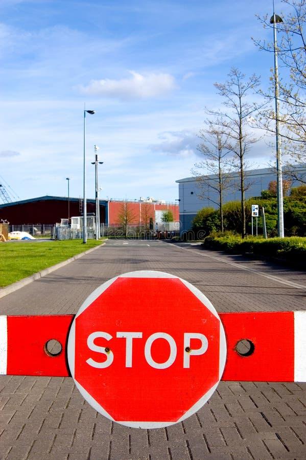 Barrier_Stopp_Sign_1 stockbilder