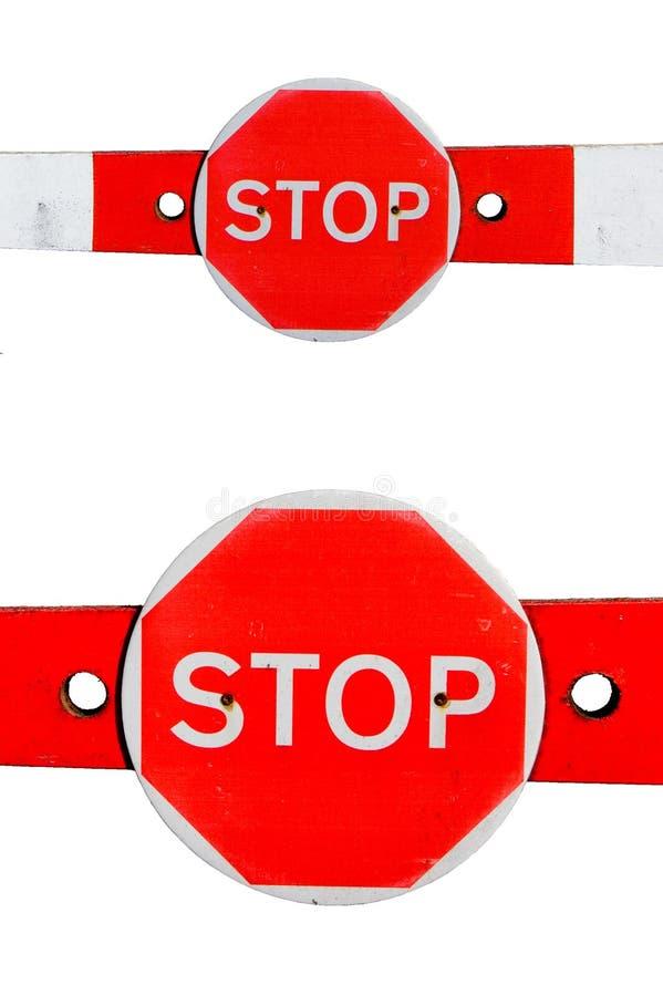 Barrier_Stopp_Sign_2 lizenzfreies stockfoto