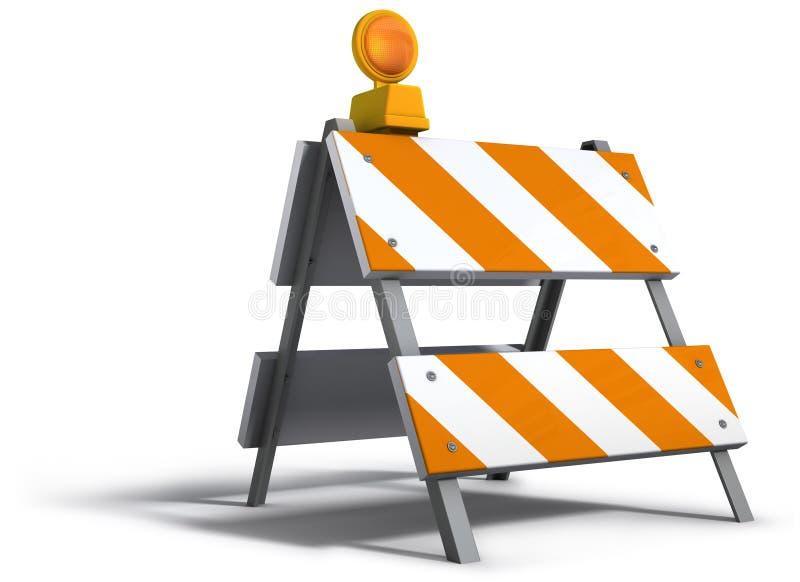 Barriera della costruzione illustrazione di stock