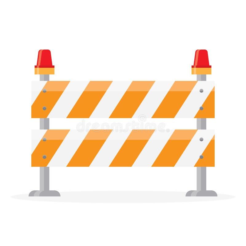 Barriera della strada, barriera illustrazione di stock