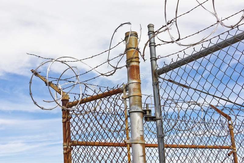 Barriera di sicurezza Corner immagini stock