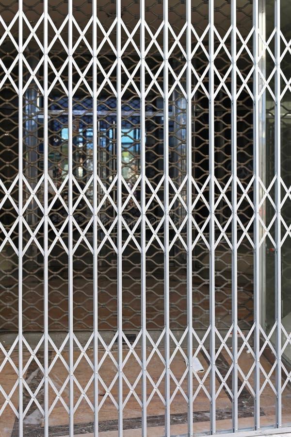 Barriera di sicurezza espandentesi immagine stock libera da diritti