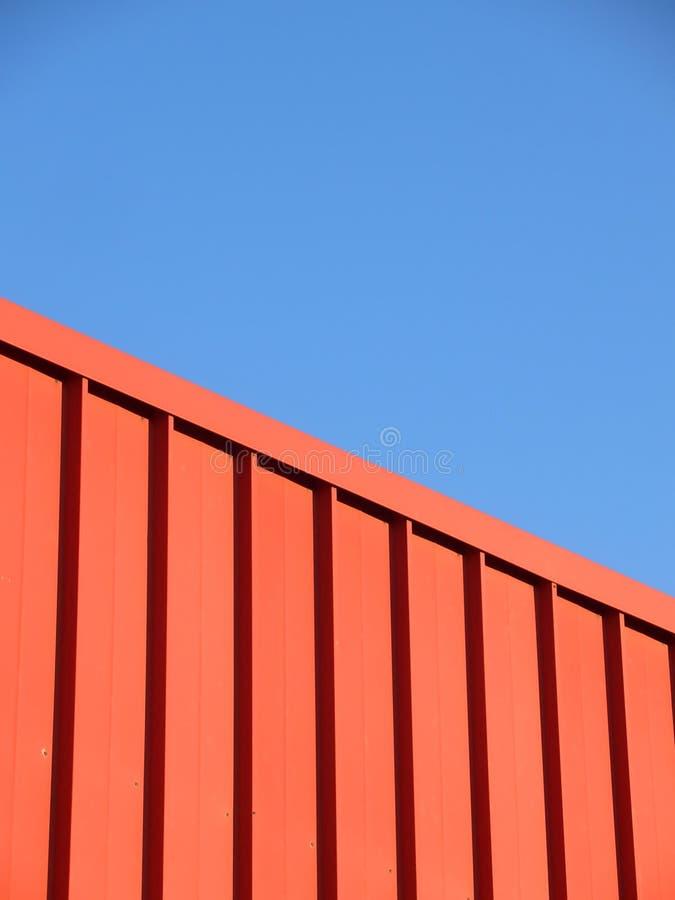 Barriera rossa del metallo fotografie stock libere da diritti