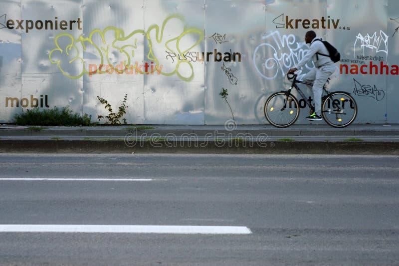 Barriera Wiesbaden del metallo immagini stock libere da diritti