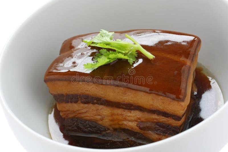 Barriga de carne de porco assada chinesa, carne de porco do dongpo imagens de stock