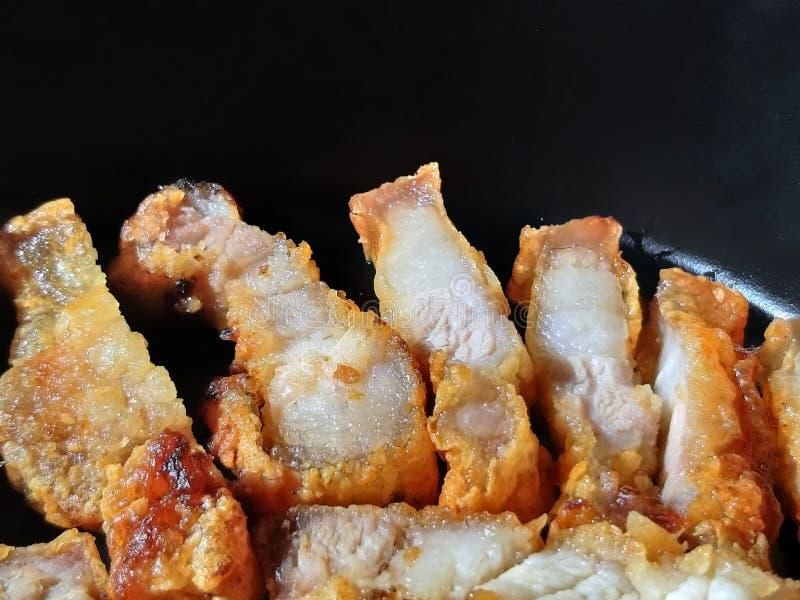 Barriga de carne de porco fritada fotografia de stock royalty free