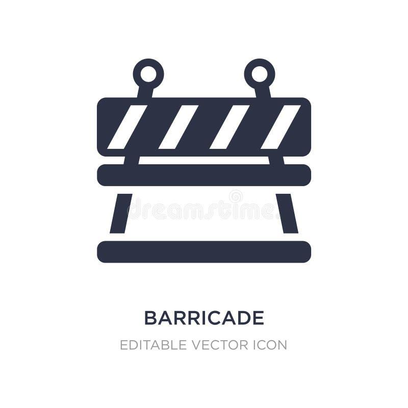 barrikadsymbol på vit bakgrund Enkel beståndsdelillustration från säkerhetsbegrepp royaltyfri illustrationer