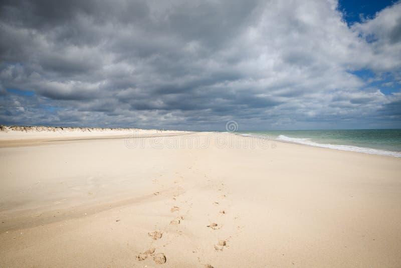 Barril Beach Tavira Portugal royalty free stock photography