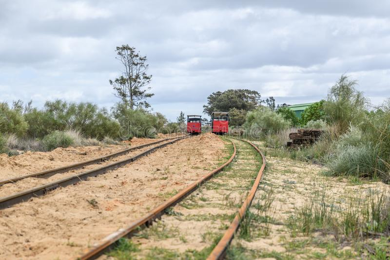 Barril Beach Trains Portugal stock photos
